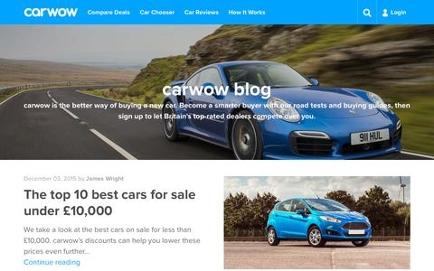 Screenshot of Blog carwow.co.uk - Car blog - buying guides and road tests | carwow - captured Dec. 4, 2015
