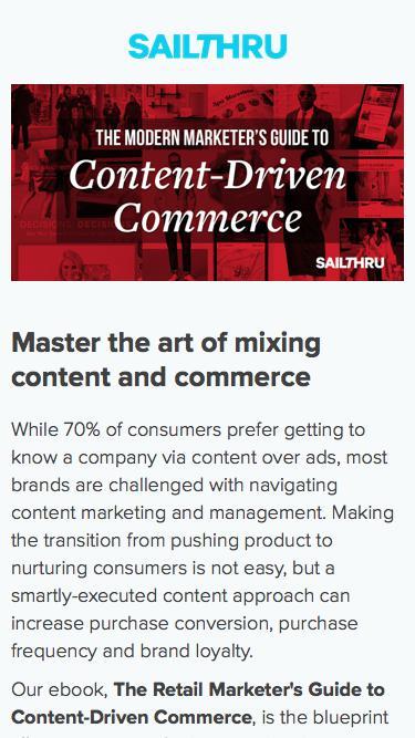 Retail Marketer's Guide to Content-Driven Commerce | Sailthru