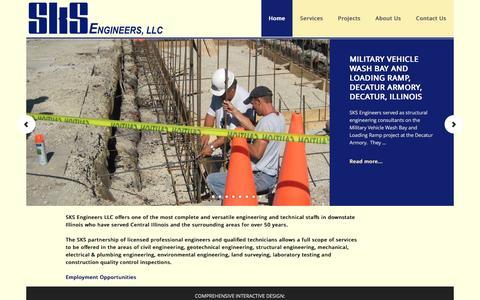 Screenshot of Home Page sksengineers.com - SKS Engineers LLC - Providing a full range of engineering services - captured Nov. 18, 2016