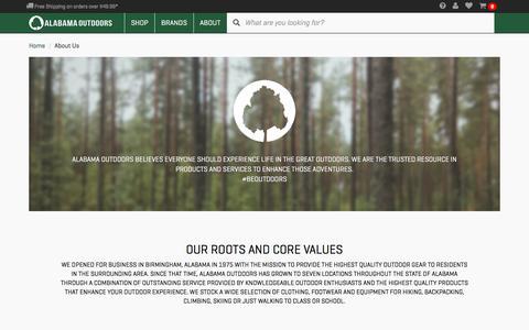 Screenshot of About Page alabamaoutdoors.com - About Us - Alabama Outdoors - captured Nov. 20, 2016