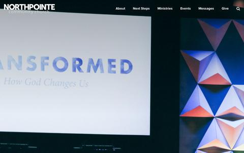 Screenshot of Home Page northpointe.org - Northpointe Church - captured Oct. 7, 2014