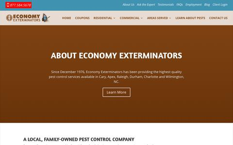 Screenshot of About Page economyexterminators.com - About Us | Economy Exterminators - captured July 16, 2018