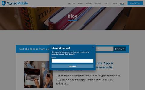 Screenshot of Blog myriadmobile.com - Blog   Myriad Mobile - captured Sept. 21, 2018