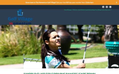Screenshot of Home Page thegolfvillage.co.za - Momentum Golf Village | Golf Driving Ranges Cape Town - captured Jan. 23, 2016