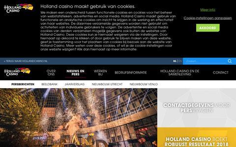 Screenshot of Press Page hollandcasino.nl - Nieuws - captured April 20, 2019