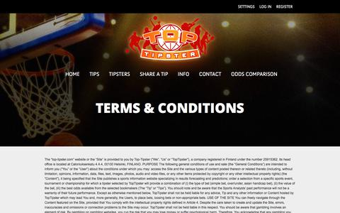 Screenshot of Terms Page top-tipster.com - Terms & Conditions | Top Tipster - captured Nov. 5, 2017