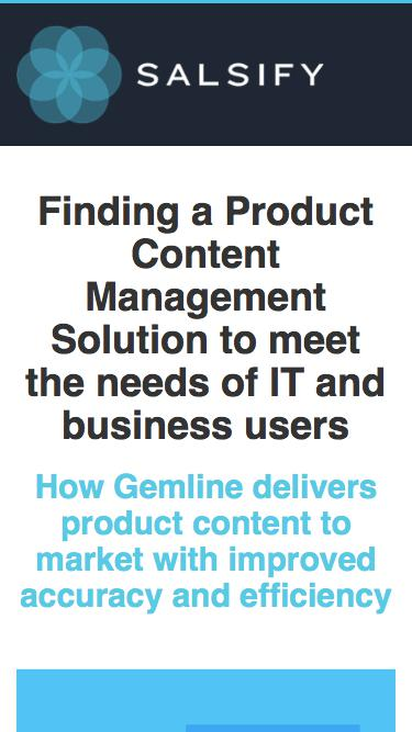 Case Study - How Gemline Improved Delivering Product Content to Market