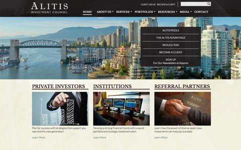 Screenshot of Home Page alitisinvestmentcounsel.com - Alitis Investment Group - captured Sept. 30, 2014