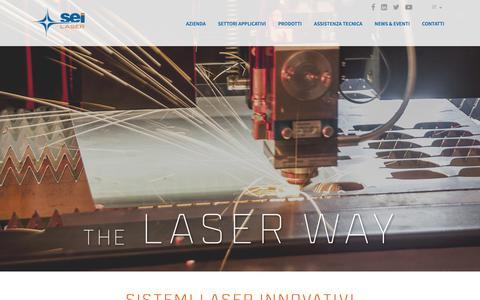 Screenshot of Home Page seilaser.com - Macchine taglio laser- Seilaser - captured Oct. 1, 2018