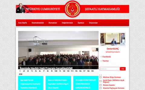 Screenshot of Home Page sefaatli.gov.tr - T.C ŞEFAATLİ KAYMAKAMLIĞI - captured Nov. 29, 2018