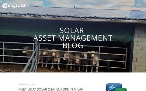 Screenshot of Blog 3megawatt.com - BLOG — 3megawatt | Solar Asset Management Software - captured Sept. 30, 2014