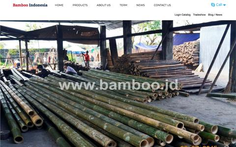 Screenshot of Home Page bamboo.co.id - Bamboo Indonesia, Bamboo Crafts Manufacturing - captured Feb. 7, 2018