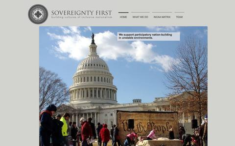 Screenshot of Home Page sovereigntyfirst.com - Sovereignty First - captured Sept. 30, 2014