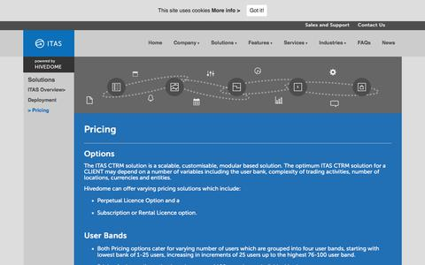 Screenshot of Pricing Page hivedome.net - Pricing - Commodity Management - Powered by HivedomeCommodity Management – Powered by Hivedome - captured July 15, 2018