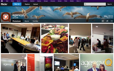 Screenshot of Flickr Page flickr.com - Flickr: agencyQ99's Photostream - captured Oct. 27, 2014
