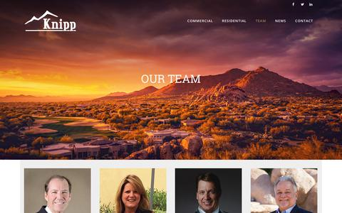 Screenshot of Team Page knippcontracting.com - Our Team - Knipp Contracting - captured Sept. 20, 2018