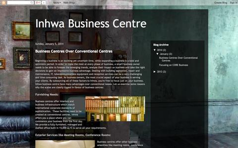 Screenshot of Blog inhwabusinesscentre.com - Inhwa Business Centre - captured Oct. 6, 2014