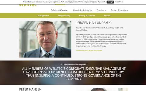 Screenshot of Team Page welltec.com - Management - captured Dec. 20, 2018