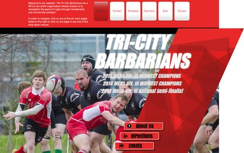 Screenshot of Home Page tricityrugby.org - tricityrugby - captured Oct. 10, 2015
