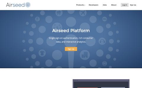 Screenshot of Developers Page airseed.com - Developer Tools & APIs for User Insights | Airseed - captured Dec. 17, 2014