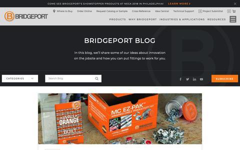 Screenshot of Blog bptfittings.com - Blog | Bridgeport Fittings - captured Oct. 6, 2018