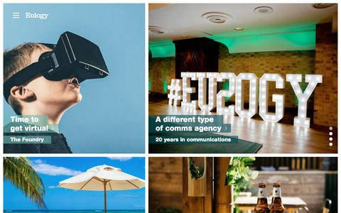 Eulogy - PR Week and PRCA Agency of the Year