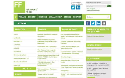 Screenshot of Site Map Page flandersfood.com - Sitemap | Flanders' FOOD - captured Nov. 6, 2018