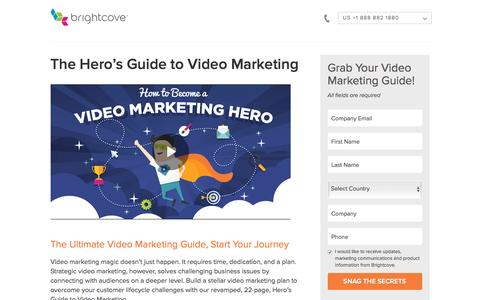Screenshot of Landing Page brightcove.com - Brightcove | The Hero's Guide to Video Marketing - captured April 3, 2017