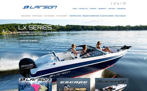 Screenshot of Home Page larsonboats.com - Larson Boats :: An American Classic - captured July 16, 2015