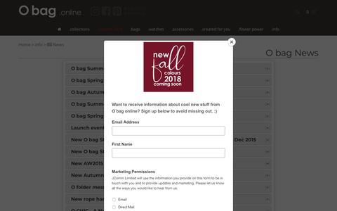 Screenshot of Press Page ourbagonline.com - News   O BAG ONLINE - captured Oct. 19, 2018