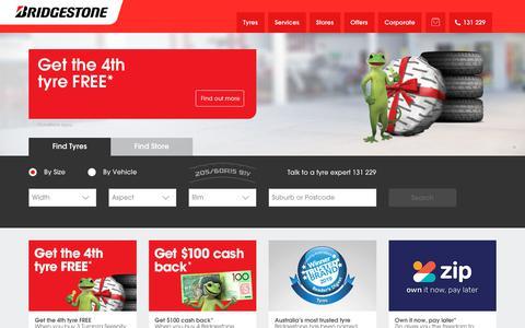 Screenshot of Home Page bridgestonetyres.com.au - Bridgestone Tyres - Car, 4x4 & Truck Tyres - Bridgestone Australia - captured Dec. 3, 2019