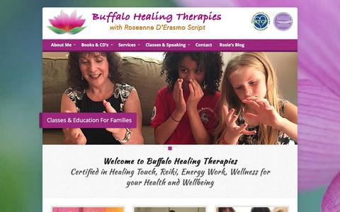 Screenshot of Home Page buffalohealingtherapies.com - Buffalo Healing Therapies – Energy Healing and Wellness - captured Aug. 4, 2018