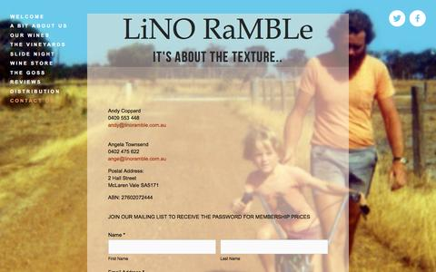 Screenshot of Contact Page linoramble.com.au - contact us — LiNO RaMBLe - captured March 25, 2016
