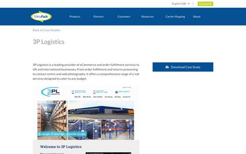 Screenshot of Case Studies Page metapack.com - 3P Logistics - MetaPack Official | eCommerce Delivery Management Software - captured April 29, 2019