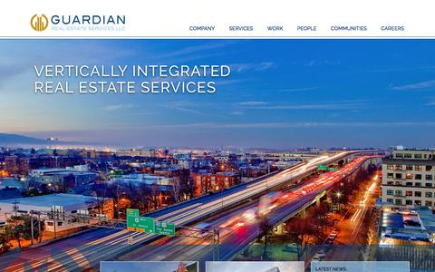 Screenshot of Home Page gres.com - Home | Guardian Real Estate Services - captured Feb. 2, 2016