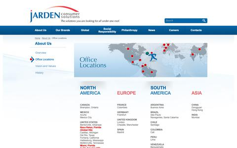 Screenshot of Locations Page jardencs.com - About Us - Locations - captured April 18, 2019