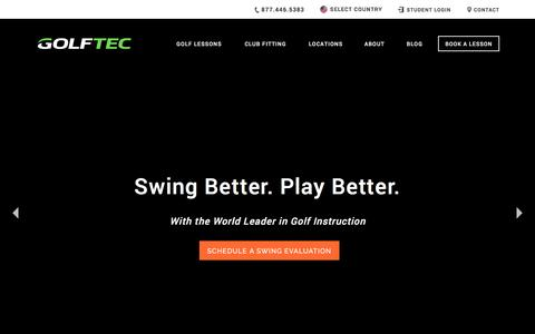 Screenshot of Home Page golftec.com - Golf Lessons, Golf Instruction & Custom Club Fitting | GOLFTEC - captured April 15, 2017