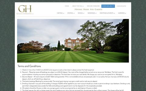 Screenshot of Terms Page goldsboroughhall.com - Cookie Policy | Goldsborough Hall - captured July 16, 2016