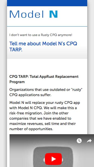 CPQ TARP - REVVY | Configure Price Quote