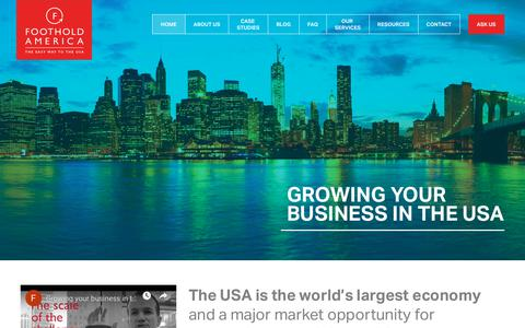 Screenshot of Home Page footholdamerica.com - Employing a worker in the USA | Foothold America - captured Nov. 6, 2018