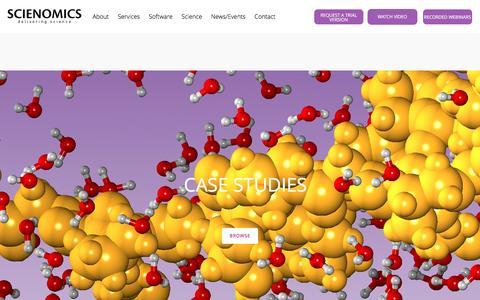 Screenshot of Case Studies Page scienomics.com - Case Studies – Scienomics - captured May 28, 2017