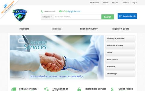 Screenshot of Home Page byoglobe.com - Home Page - captured Sept. 30, 2014
