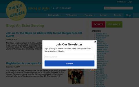 Screenshot of Blog meals-on-wheels.com - Blog - Meals on Wheels - captured Oct. 18, 2017
