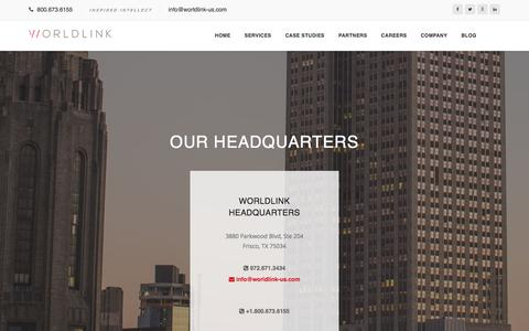 Screenshot of Contact Page worldlink-us.com - WorldLink - captured Oct. 26, 2017