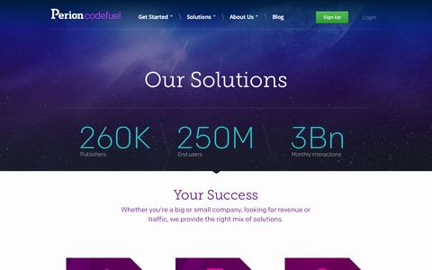 Screenshot of Products Page codefuel.com - Codefuel products – Software Monetization and Distribution tools - captured Sept. 19, 2014
