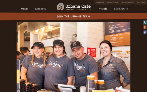 Screenshot of Team Page urbanecafe.com - Restaurant Jobs & Employment | Urbane Cafe - captured Nov. 14, 2017