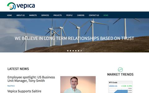 Screenshot of Blog Press Page vepica.com - Vepica News - captured Nov. 5, 2017