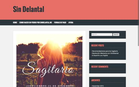 Screenshot of Blog sindelantal.mx - Sin Delantal - - captured Nov. 25, 2015