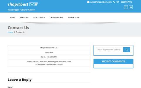 Screenshot of Pricing Page shopatbest.com - Contact Us | Shop@Best - captured Oct. 26, 2014