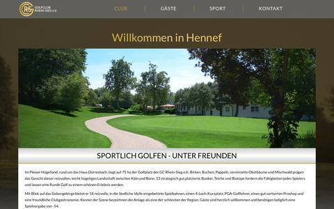 Screenshot of Team Page gcrs.de - Club – GOLFCLUB RHEIN-SIEG E.V. - captured May 23, 2018